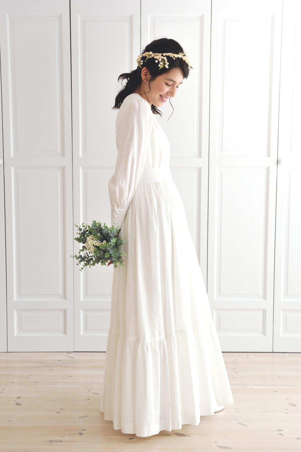 コットンリネンのドレス