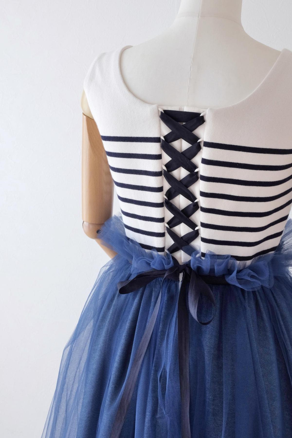 ボーダーのドレス